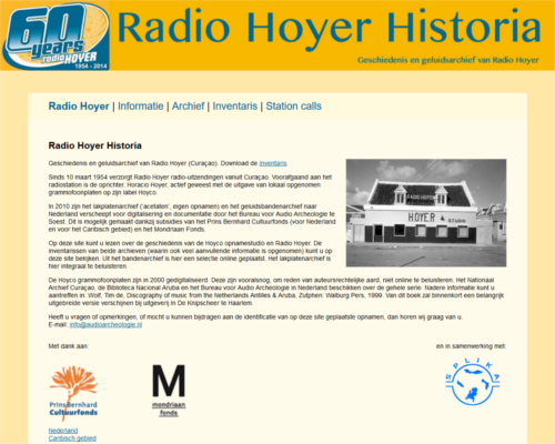 Schermprint Radio Hoyer Historia